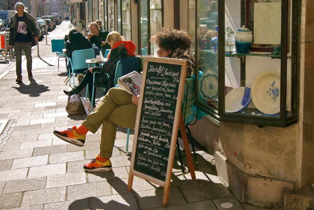 Marais Ladencafé 3 - Bei schönem Wetter auch draußen