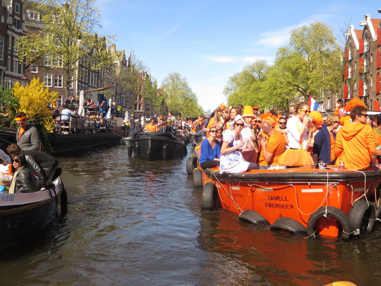 Königstag in Amsterdam