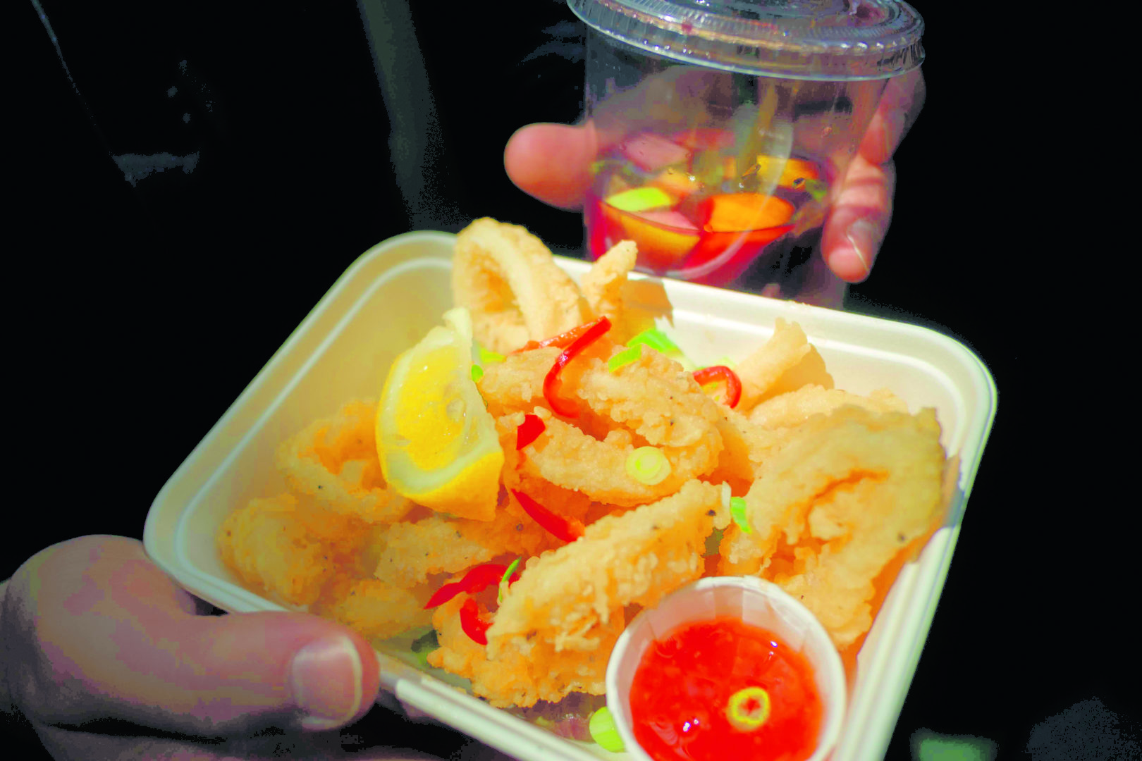 Best food markets in London - Salt and Pepper Squid