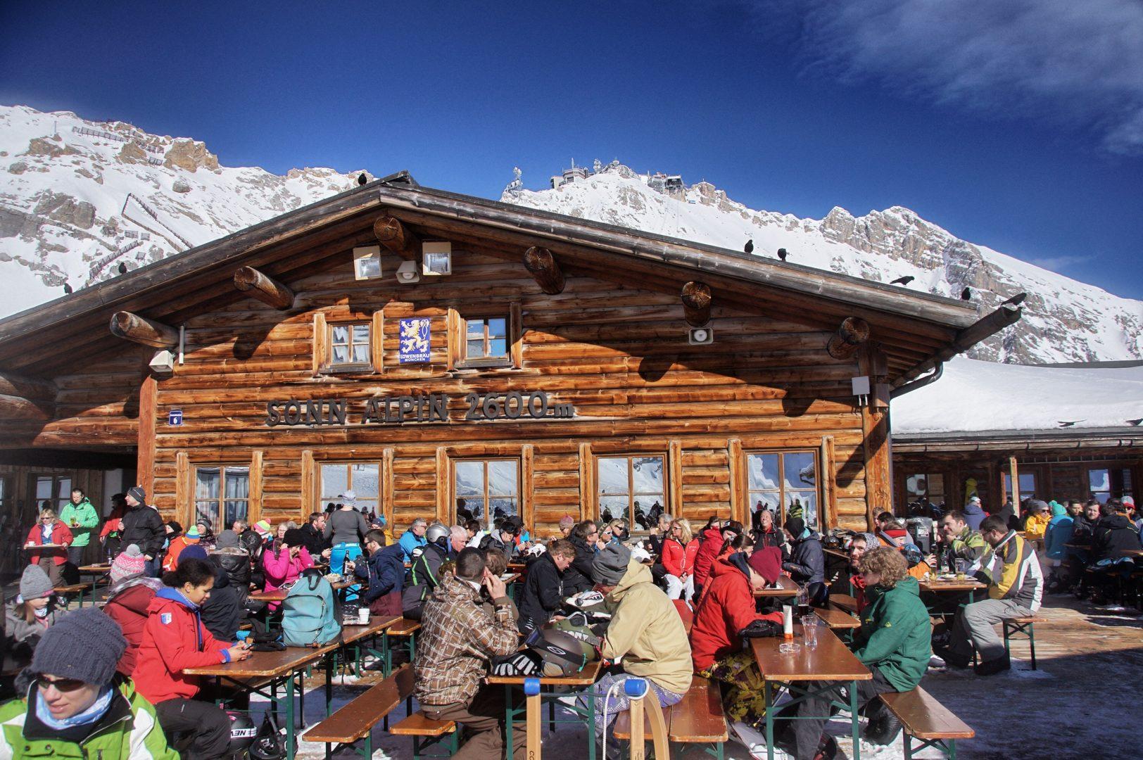 Skigebiet der Zugspitze