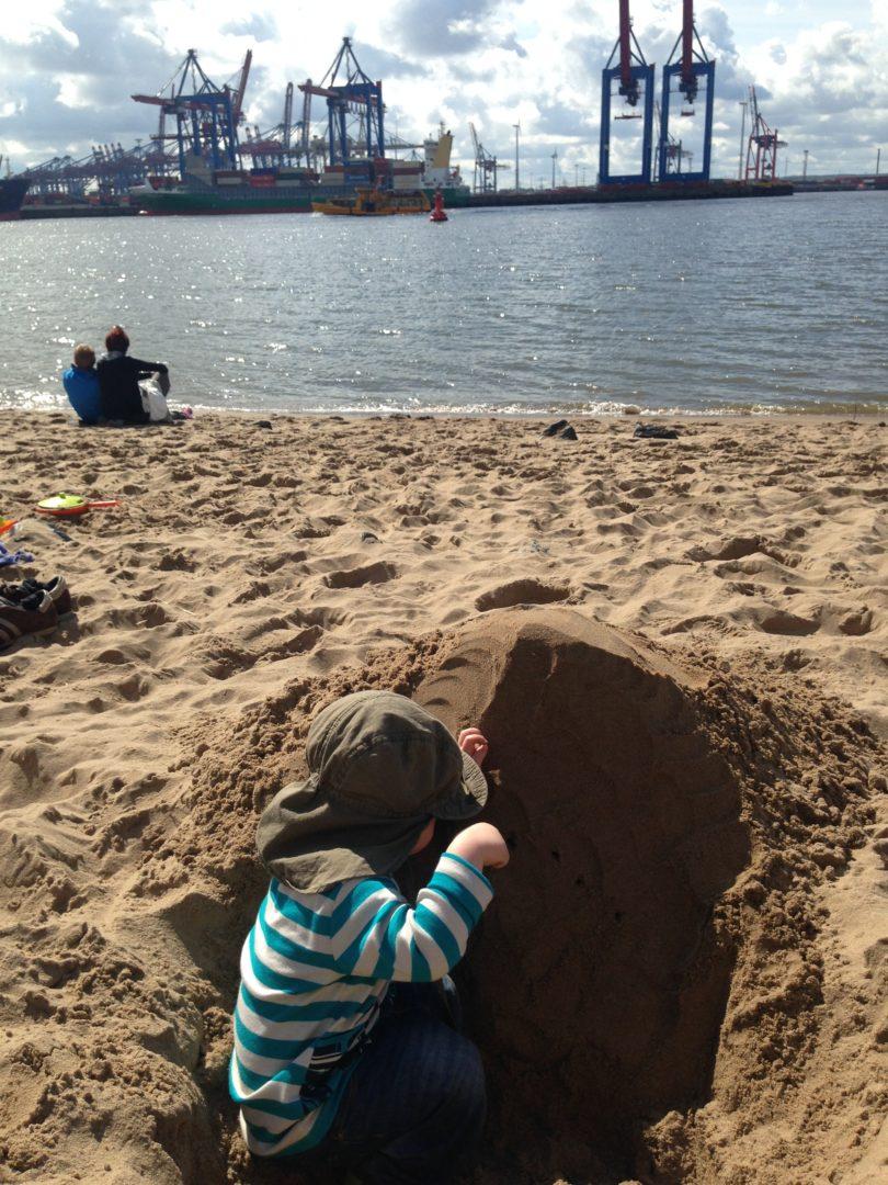 Hamburg with children