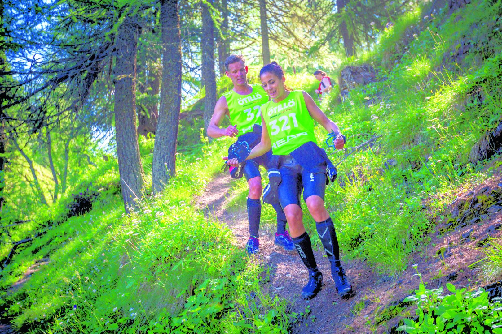 Race in the Swiss Alps
