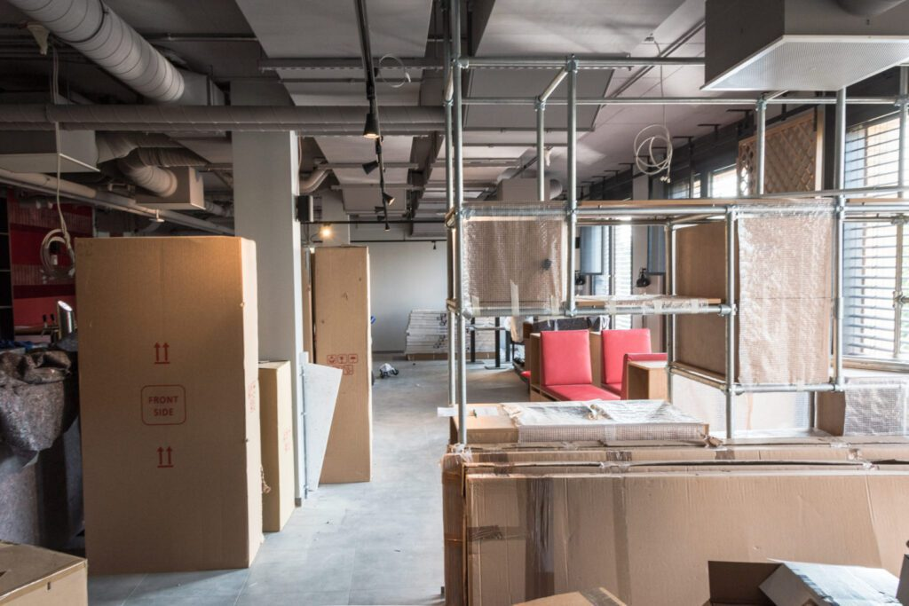 Construction site: Lobby MEININGER Hotel Berlin Tiergarten