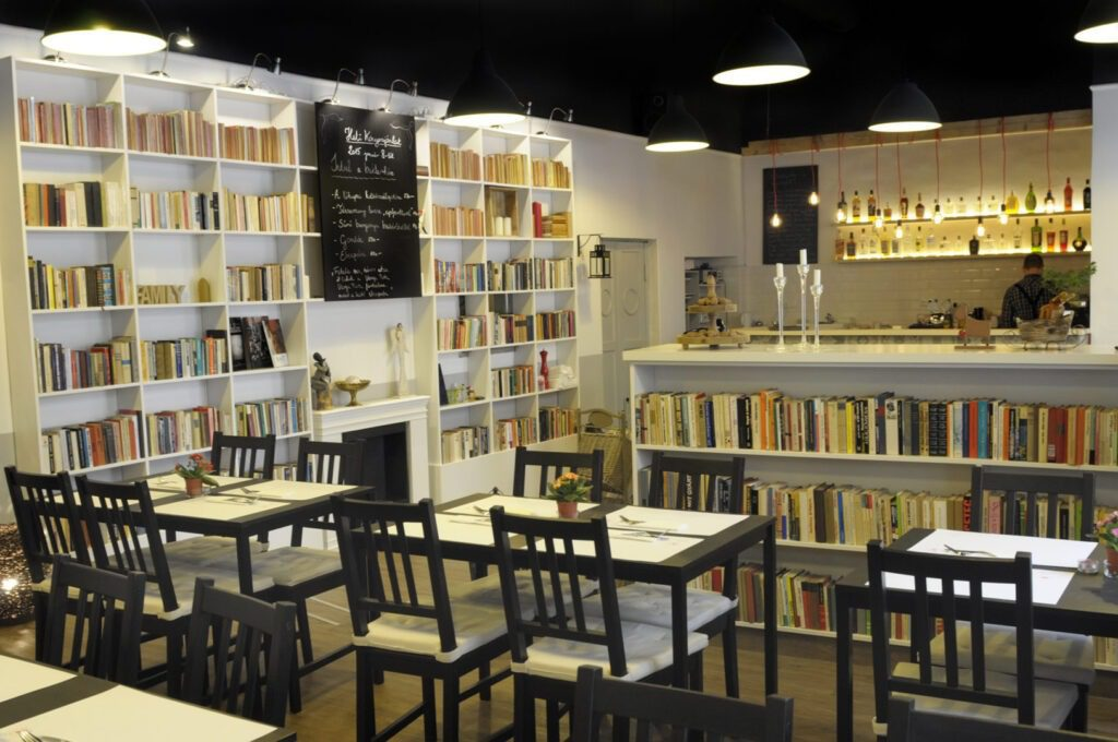 Könyvbár budapest book selection