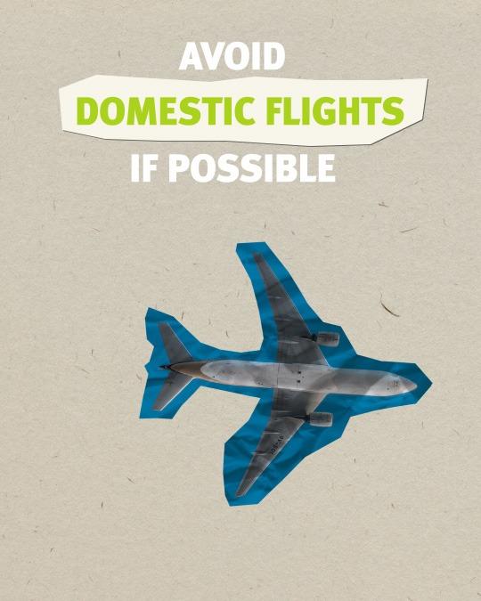 Sustainable Travel Tips - Avoid flights